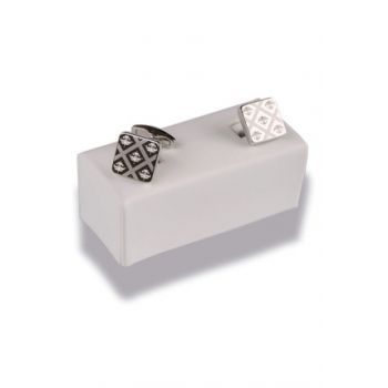 Silver Color Square Cufflink KD362