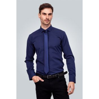 Men's Navy Blue Shirt - MD17003-346