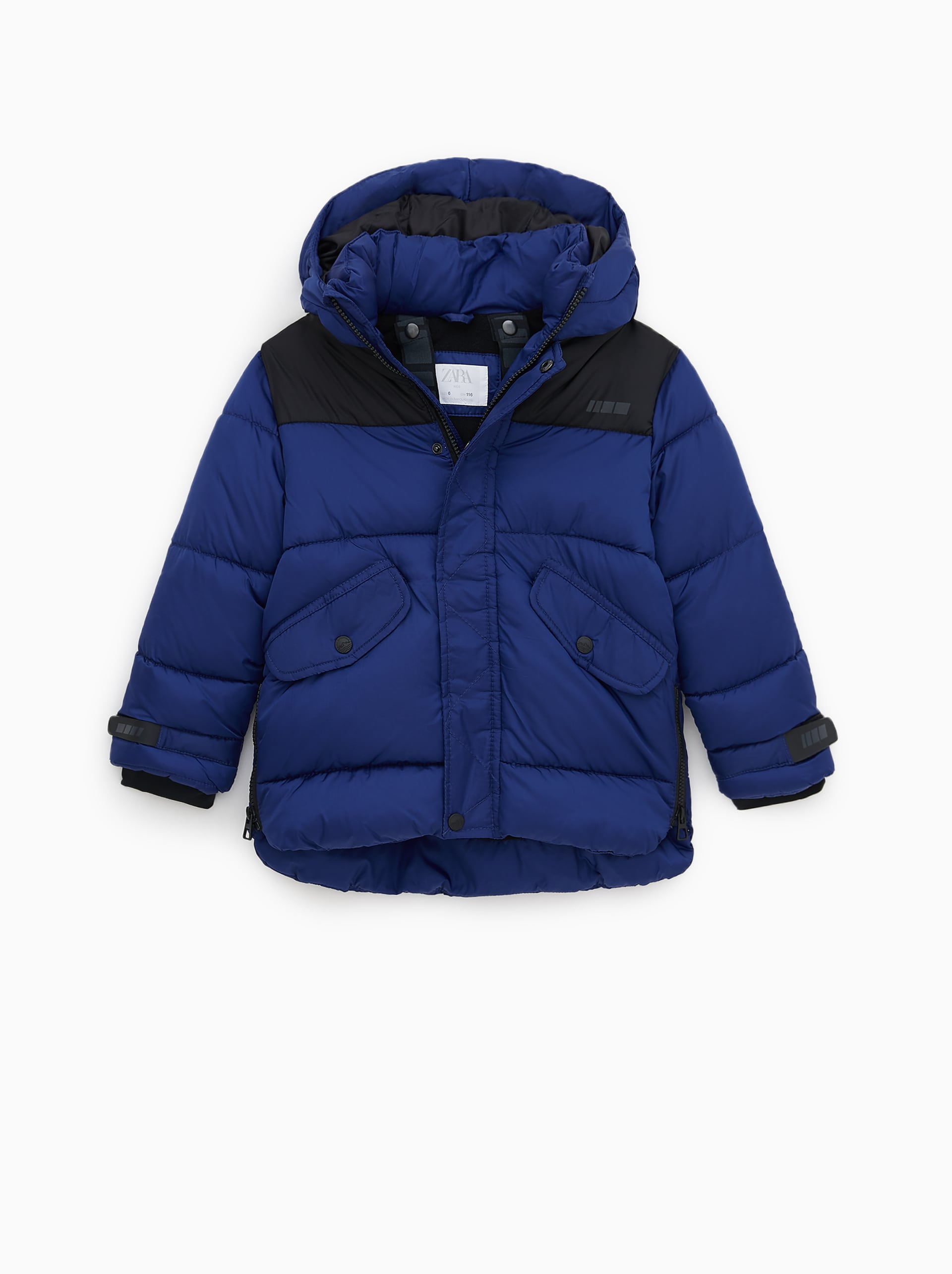 PUFFER COAT WITH STRAPS