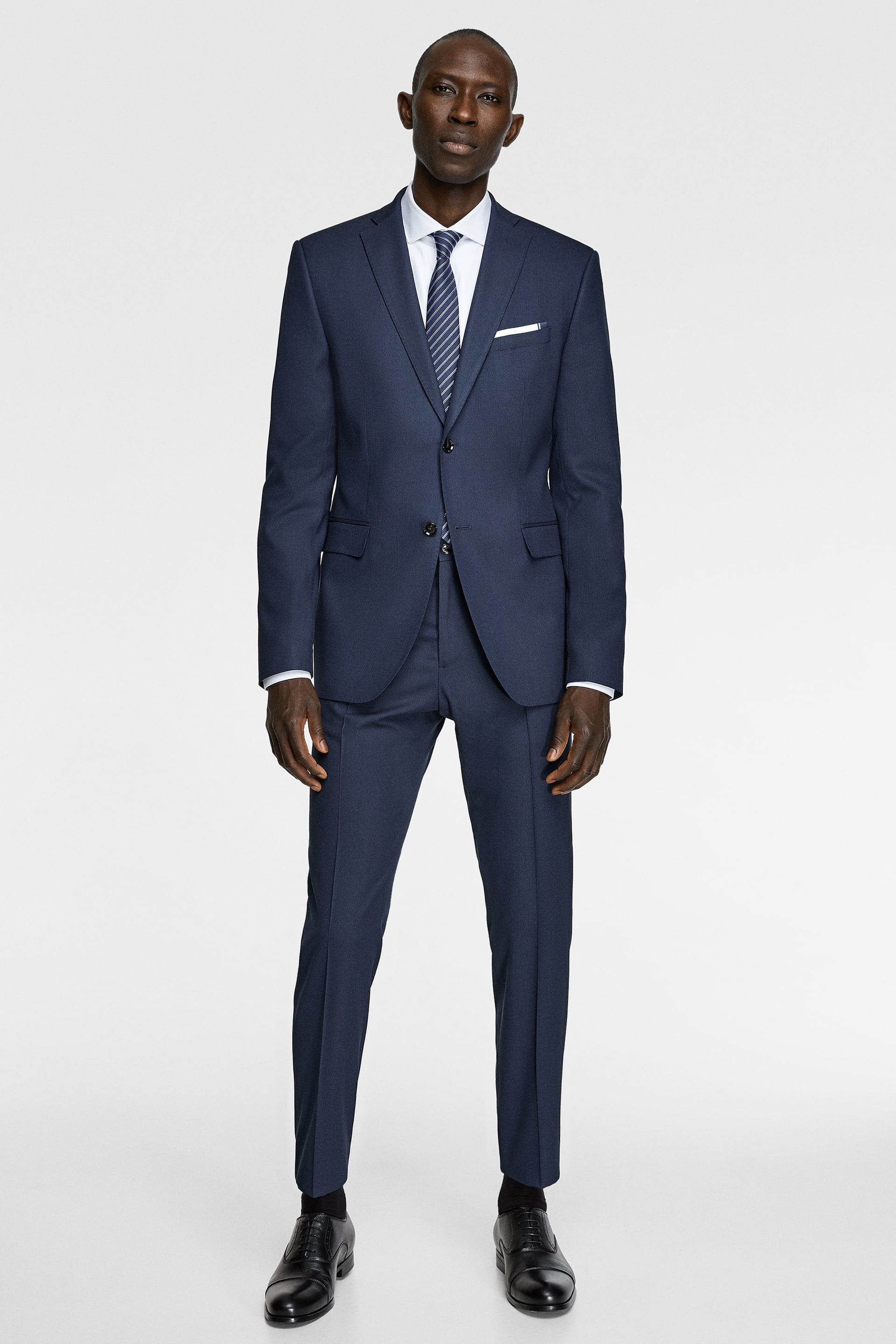 BIRD'S-EYE SUIT BLAZER