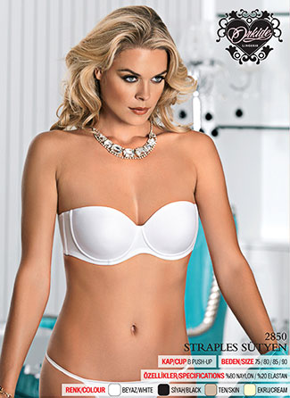 Strapless Support Bra - Ecru
