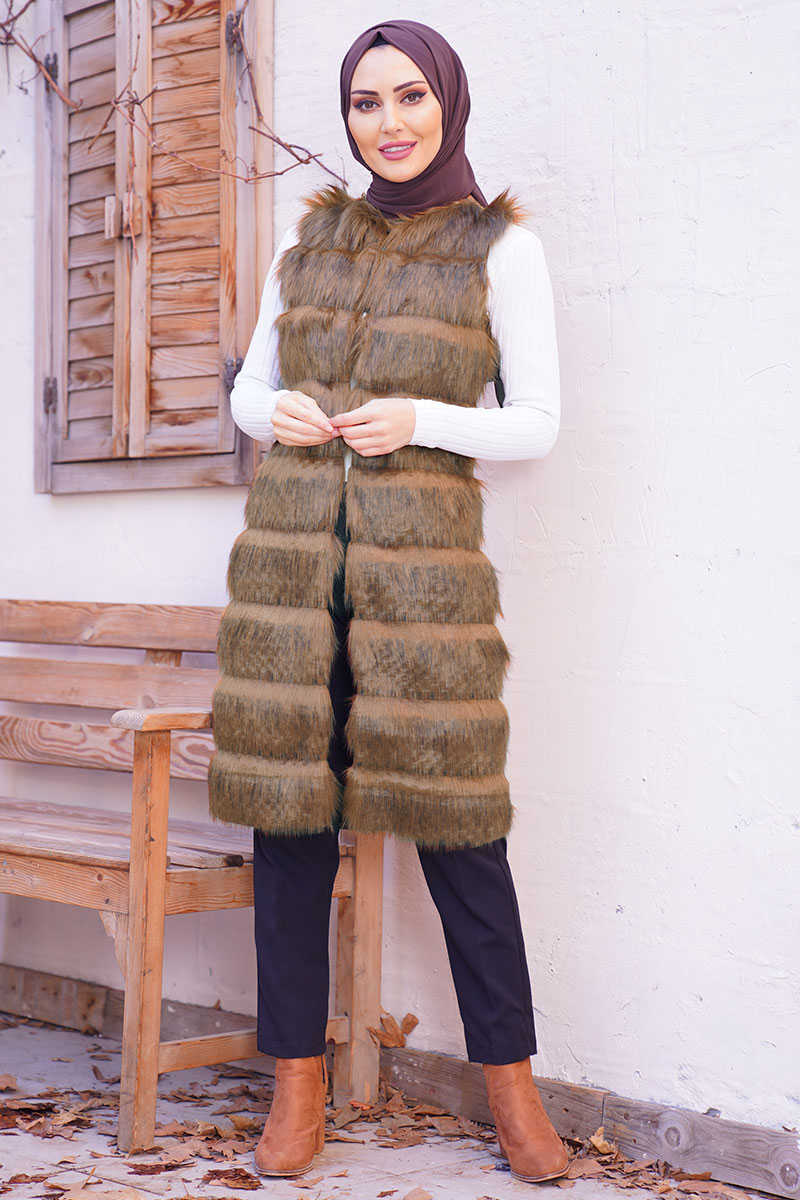 Plush Floor Coat Taba Vest