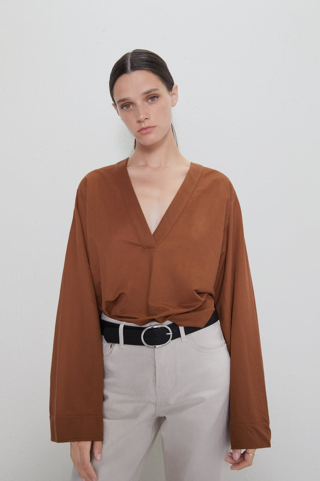 T-SHIRT WITH WIDE SLEEVES