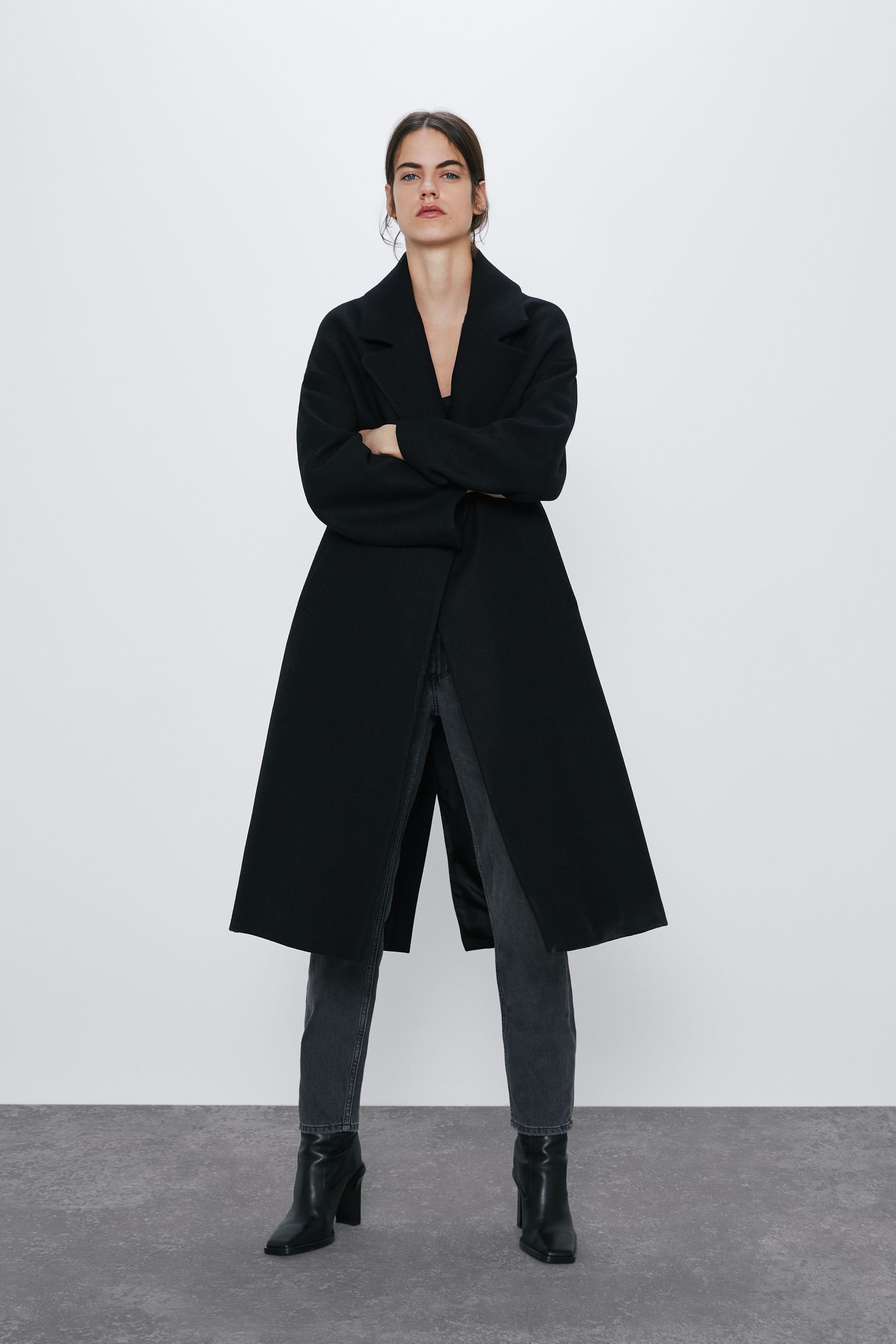 OVERSIZED COAT WITH WOOL