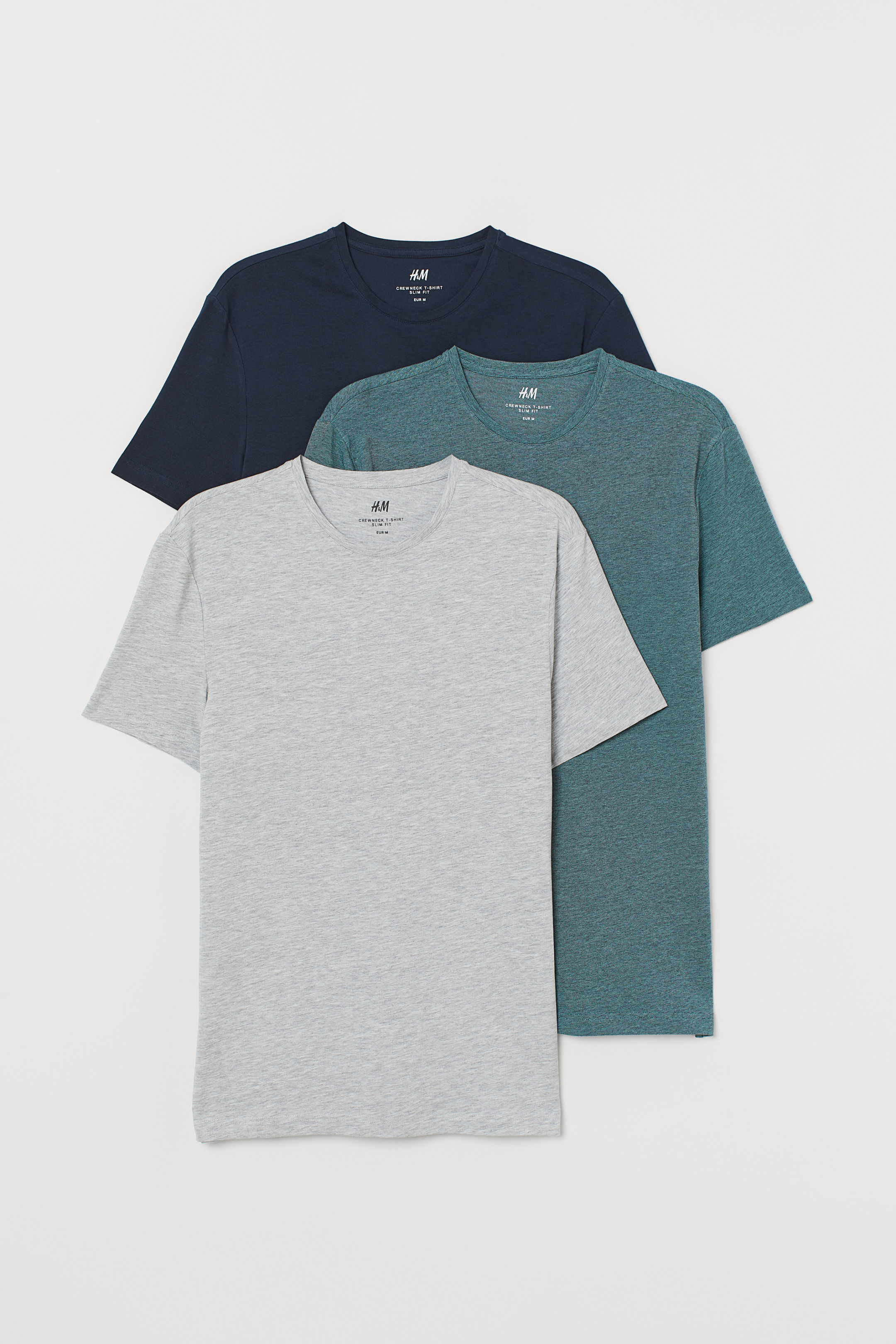 3-Piece T-Shirt Slim Fit