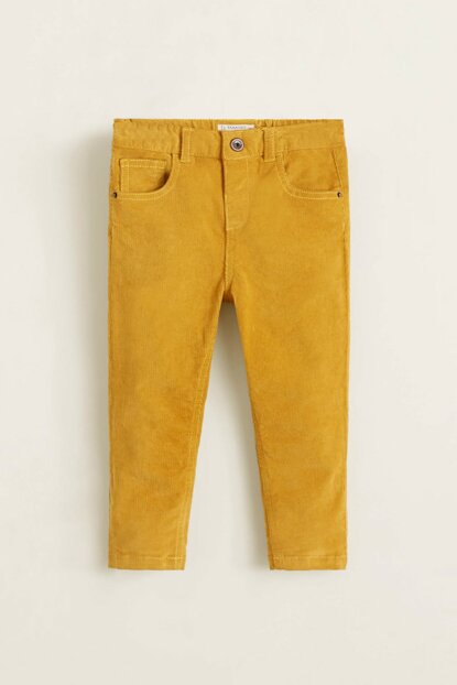 Mustard Color Baby Boy Pants 33067646