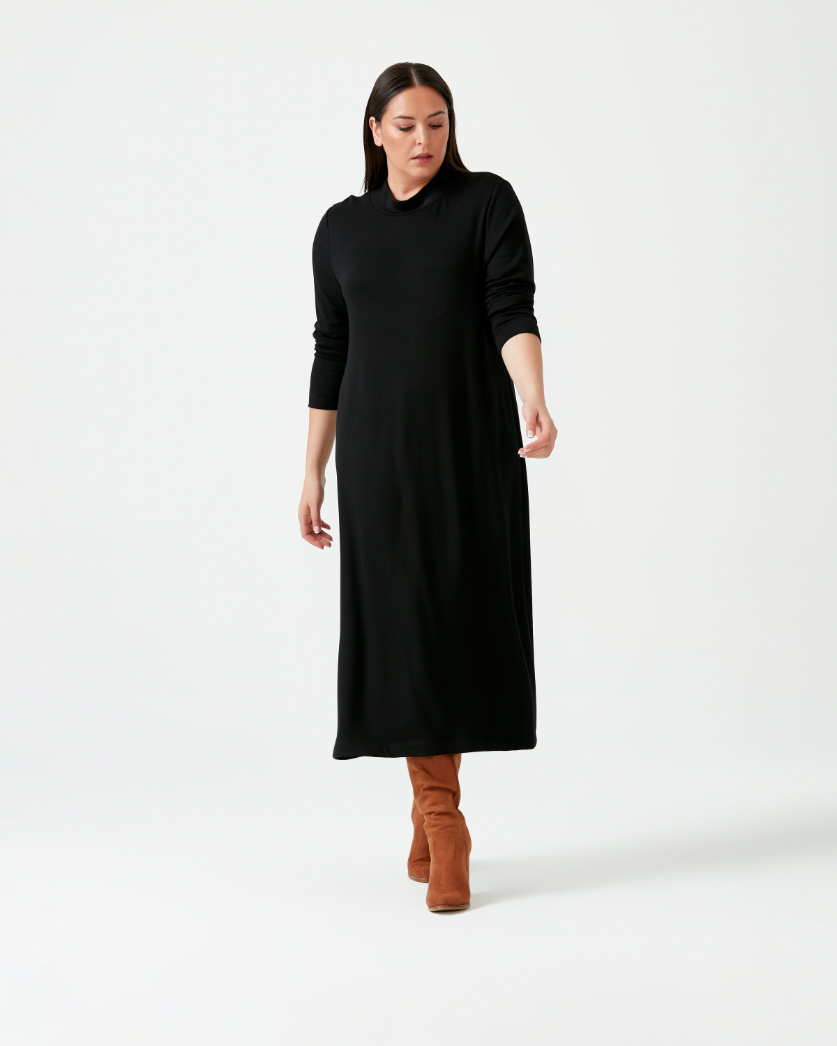 NEW - GALAXI LARGE SIZE MEDIUM SIZE DRESS - BLACK