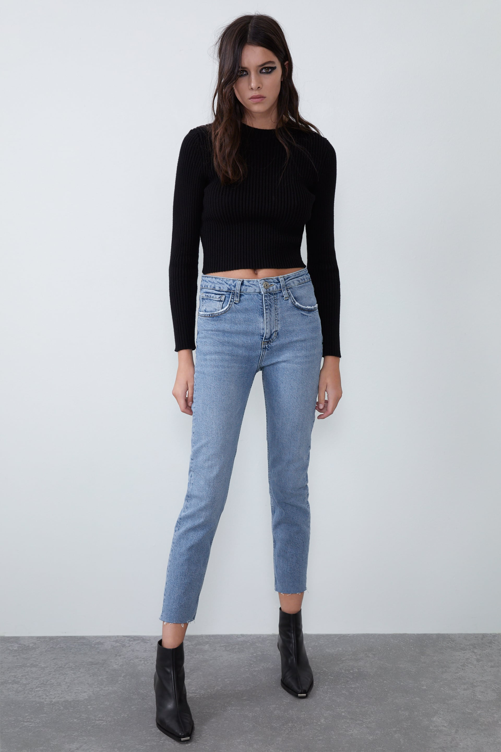 SLIM FIT HI-RISE JEANS