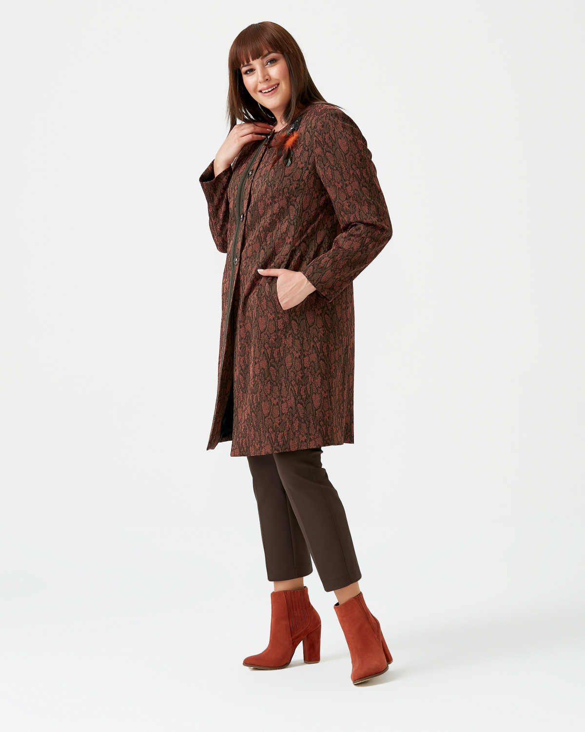 NEW - GALAXI ROUND COLLAR JACKET WITH BIG SIZE PATTERN - TABA