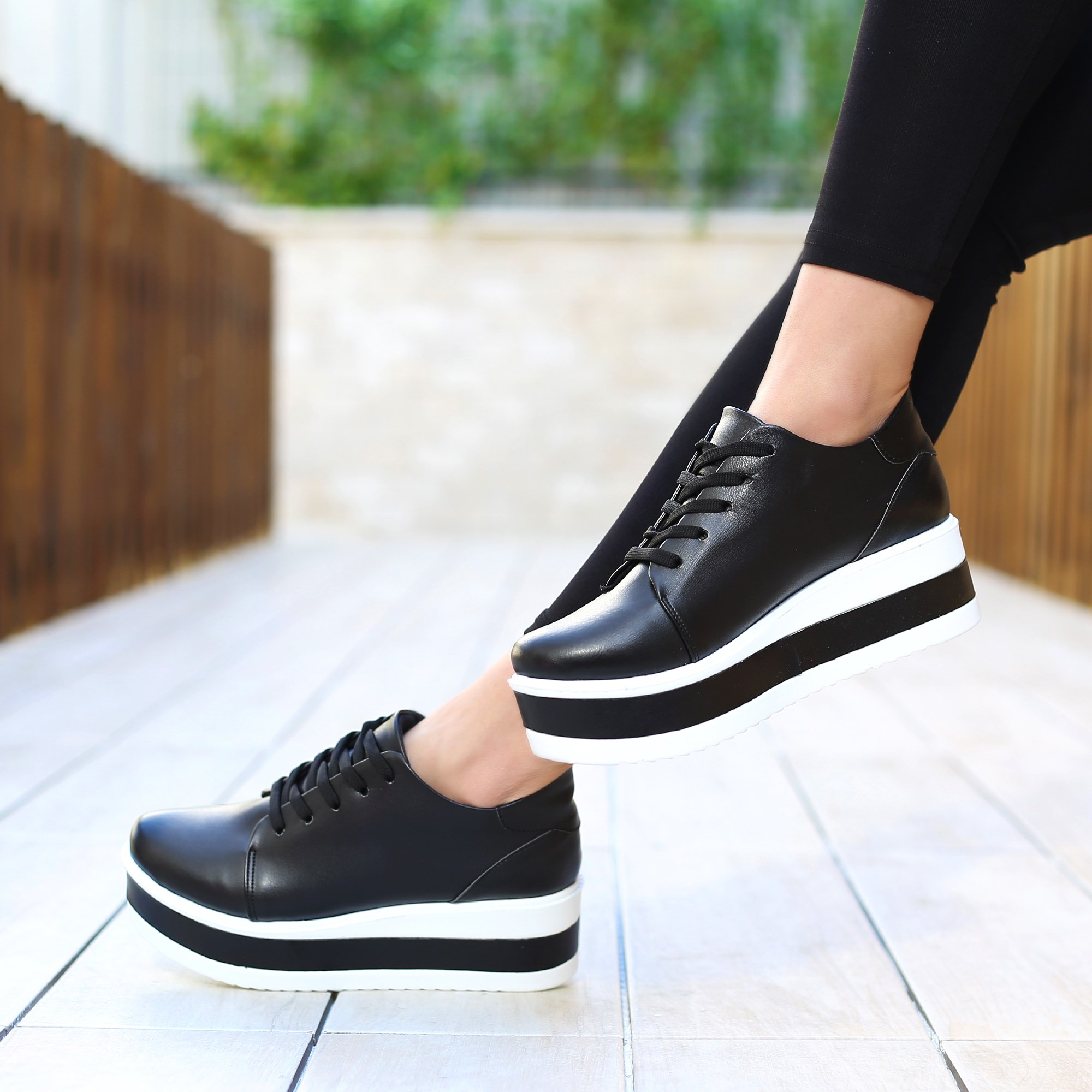 Gavir Black High Sole Sports Shoes