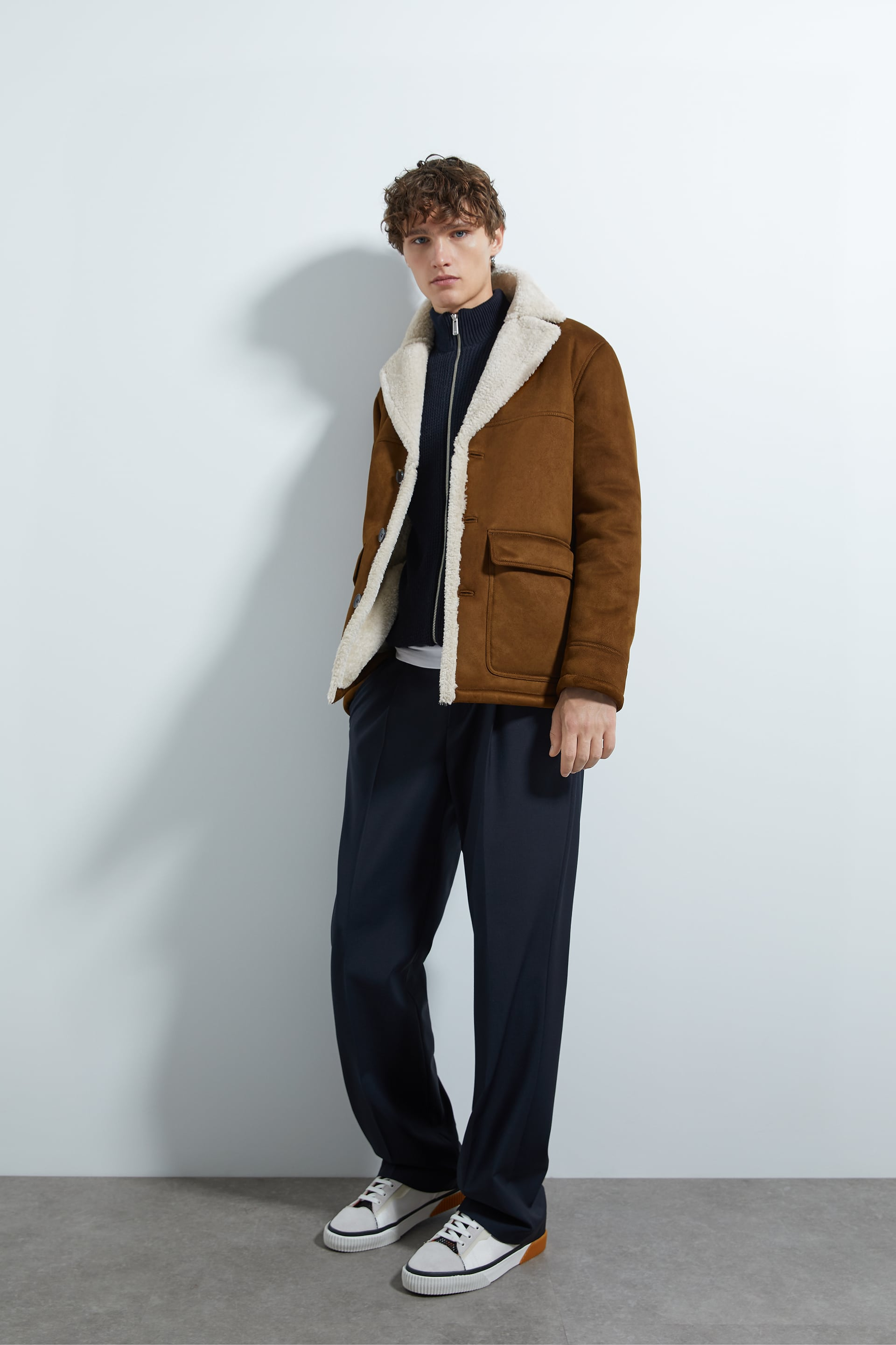 DOUBLE-SIDED THREE-QUARTER-LENGTH COAT