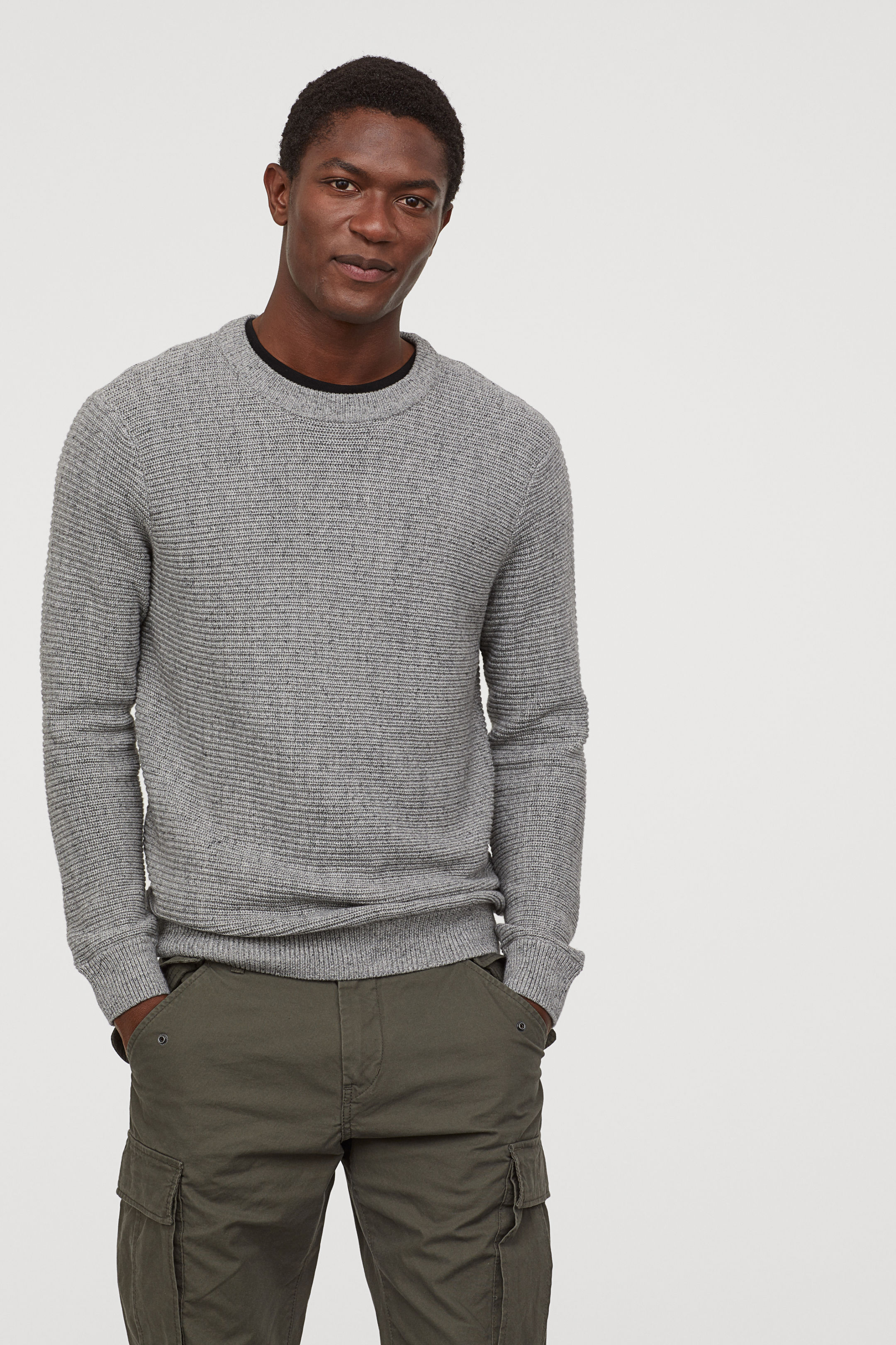 Textured Knitwear Sweater