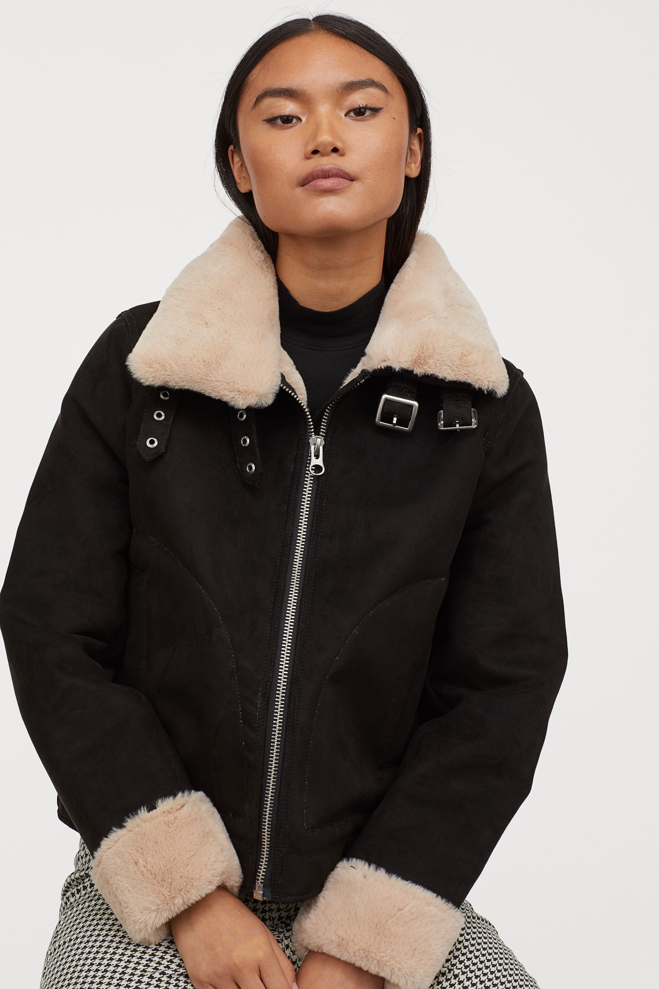 Artificial Fur Lined Jacket