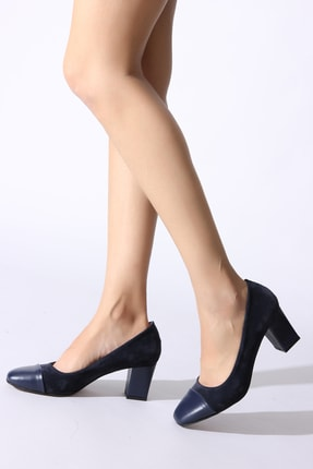 Navy Blue Women's Classic Heeled Shoes 546990-03