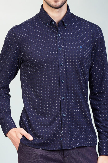 Men's Dark Navy Blue Shirt - A82Y2022-115