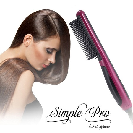 NEW MODEL PROFESSIONAL HAIR STRAIGHTENER COMB