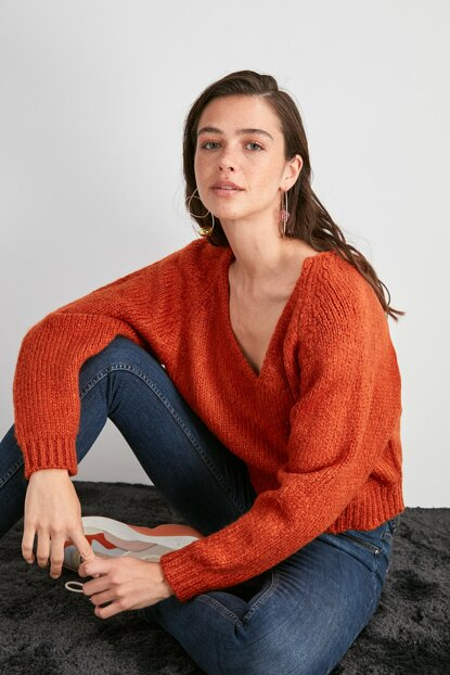 Tile V Neck Sweater TWOAW20KZ0958