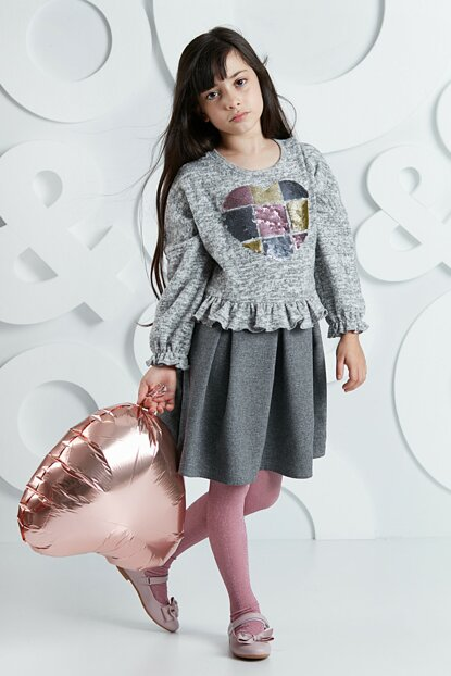Knitwear Woven Girl Dress OL-19S1-022