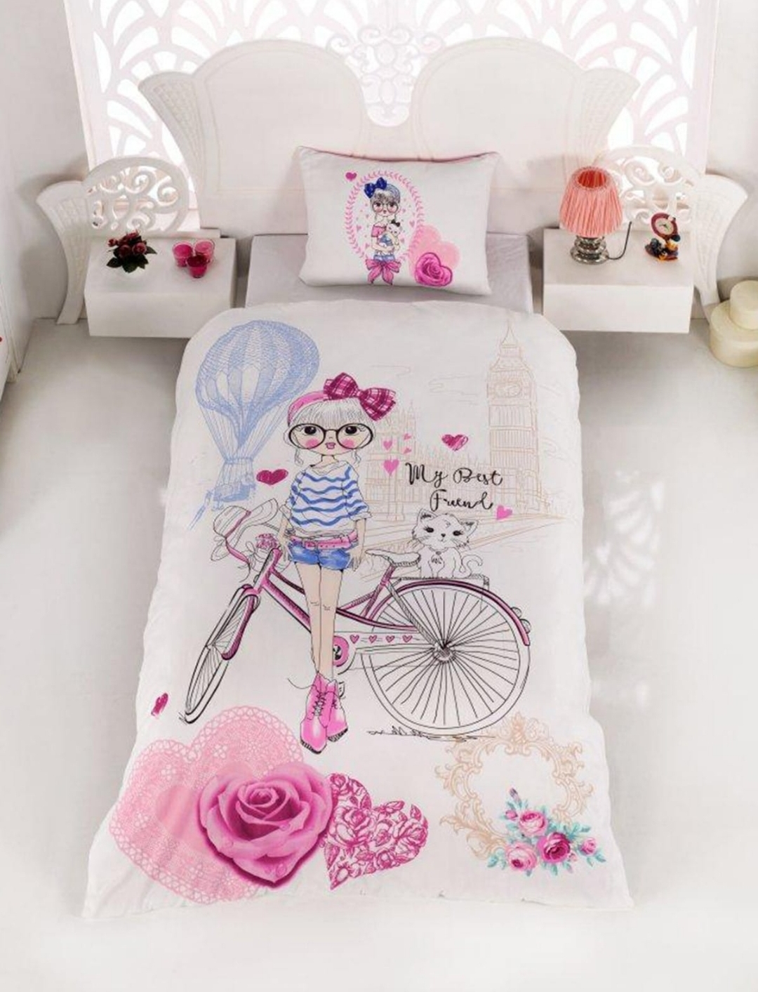Lady Fashion Isabella Single Terry Cotton Duvet Cover