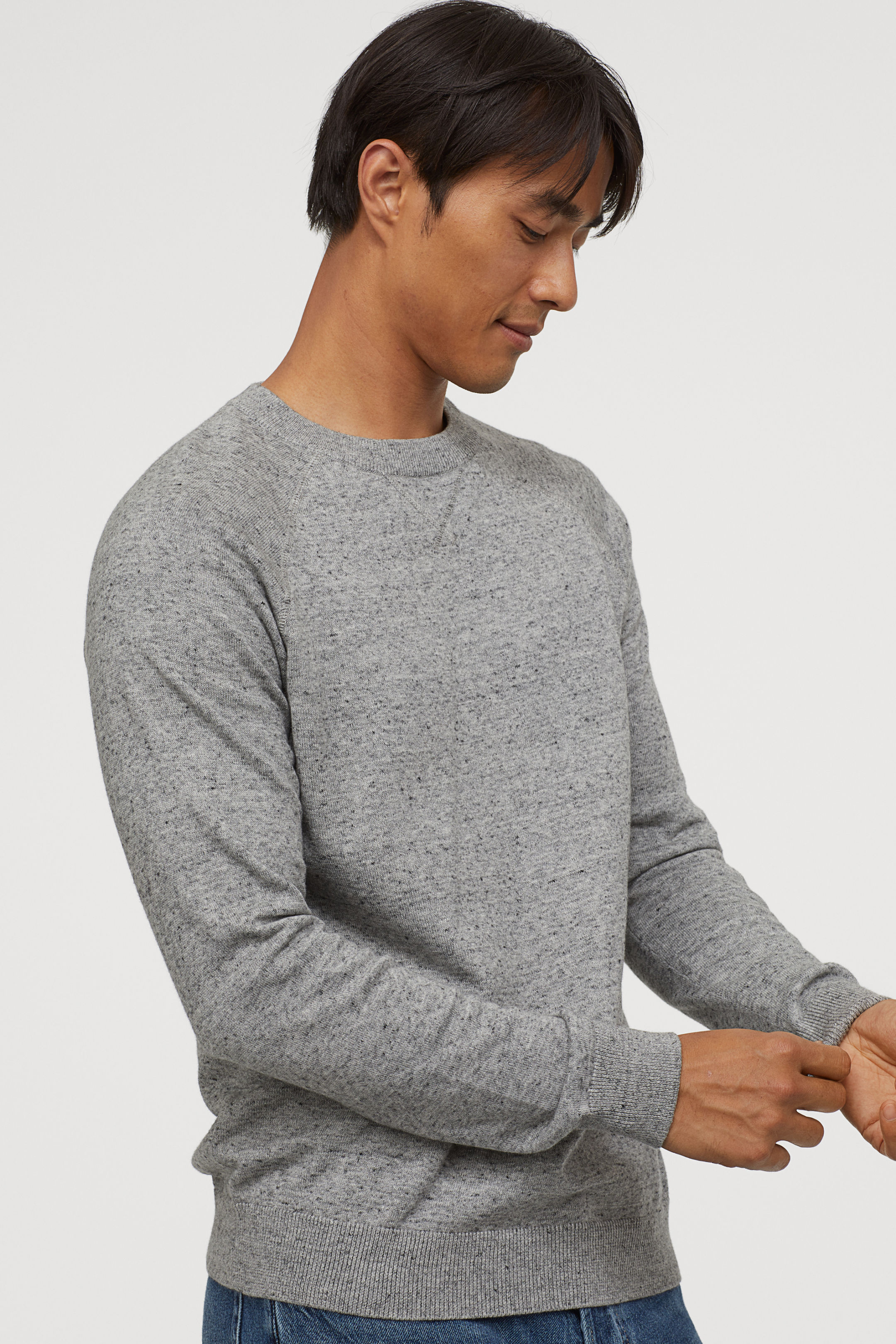 Reglan Sleeve Cotton Sweater