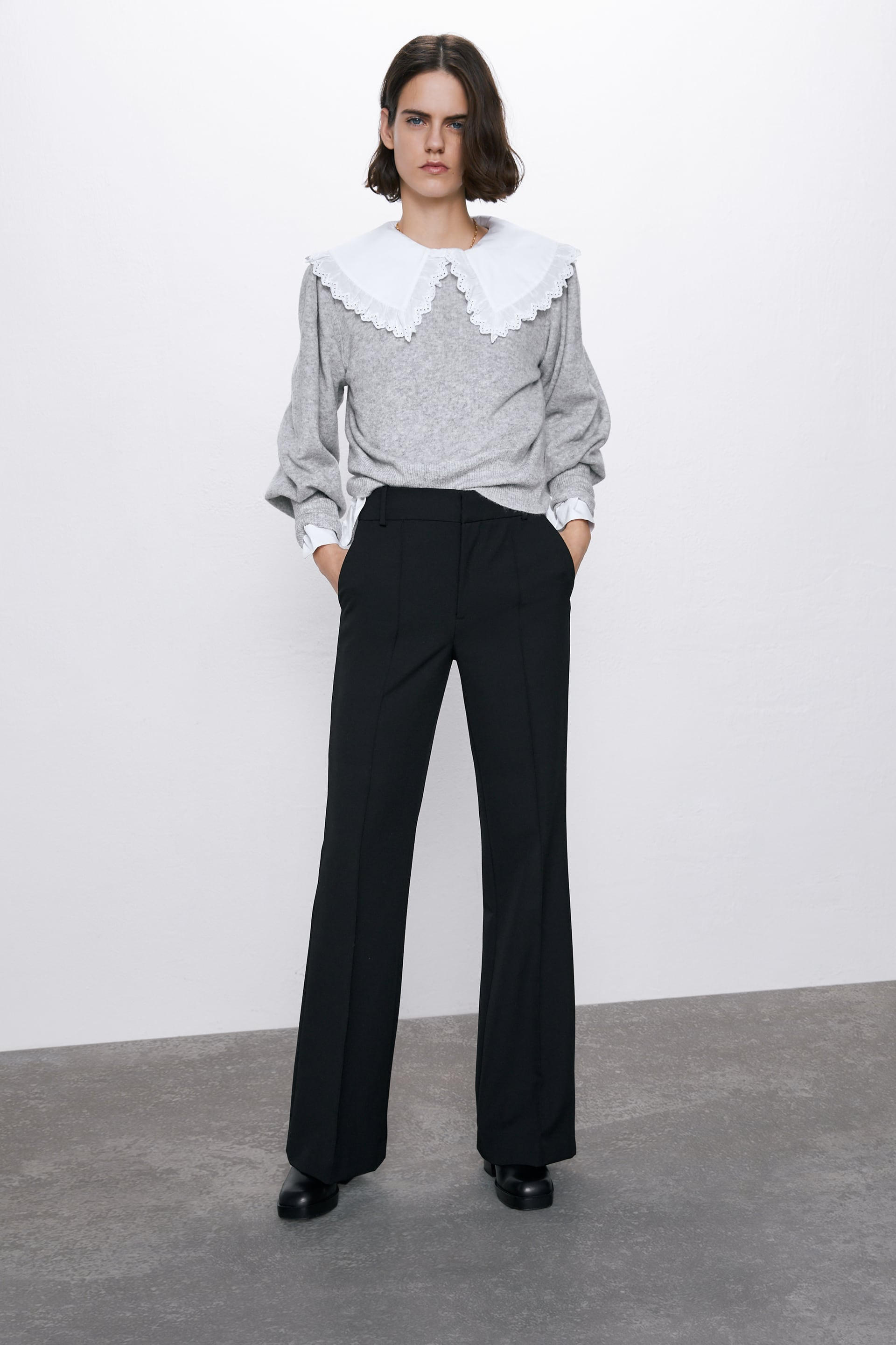 TROUSERS WITH FRONT SEAM DETAIL