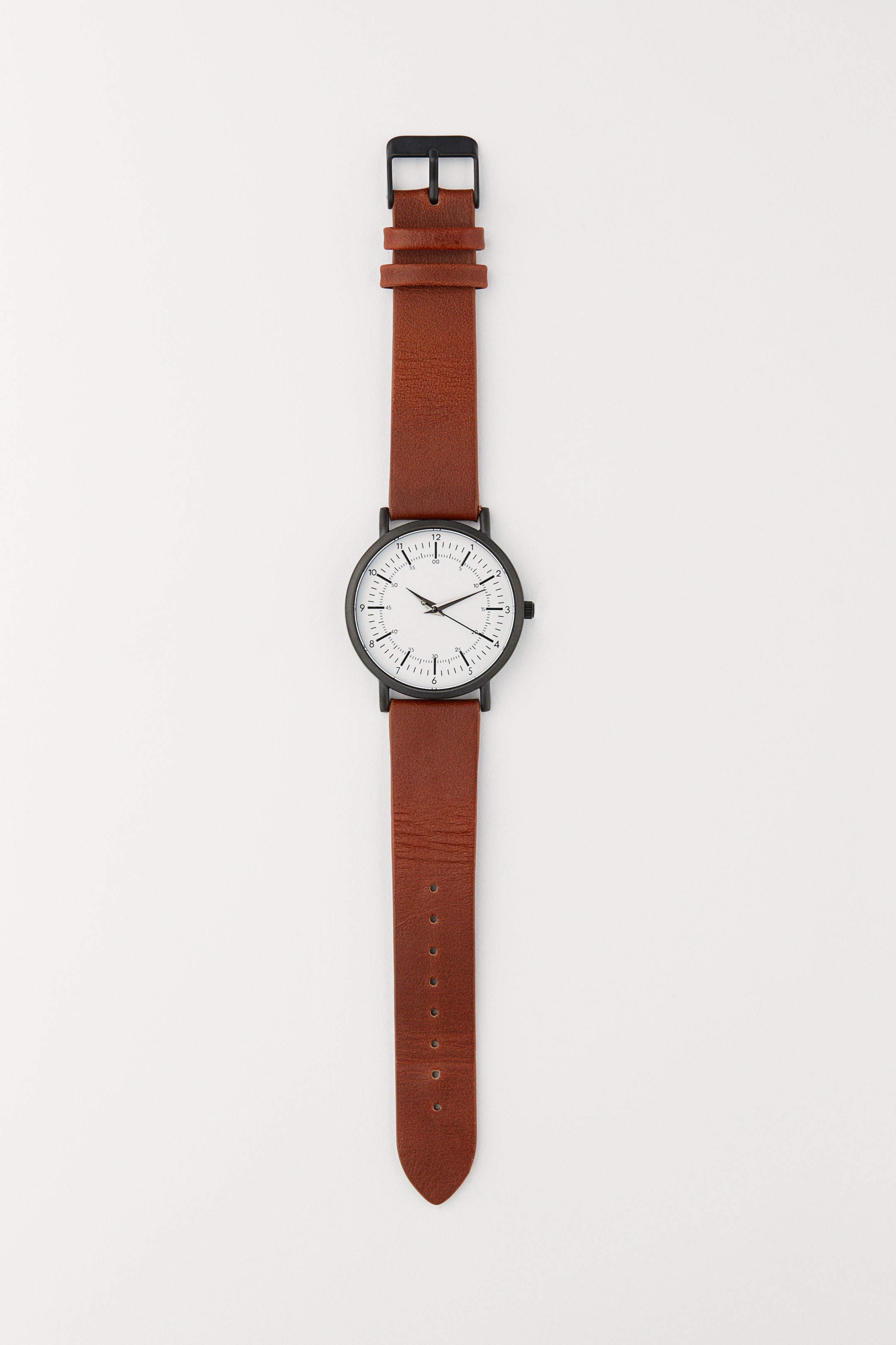 Leather Strap Wrist Watch