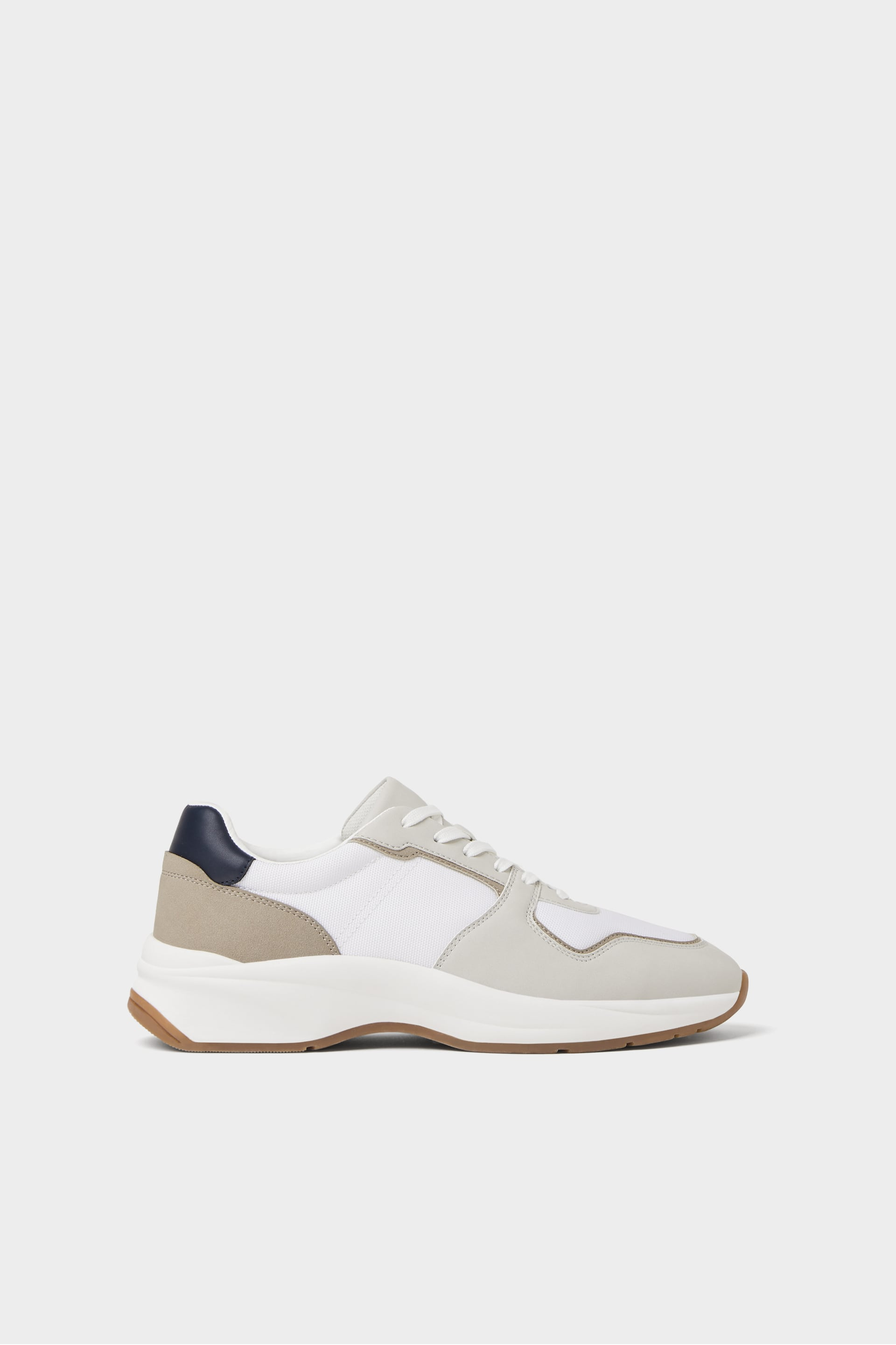 CONTRASTING LACE-UP SNEAKERS