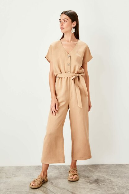 Stone Buttoned Jumpsuit TWOSS19TU0011