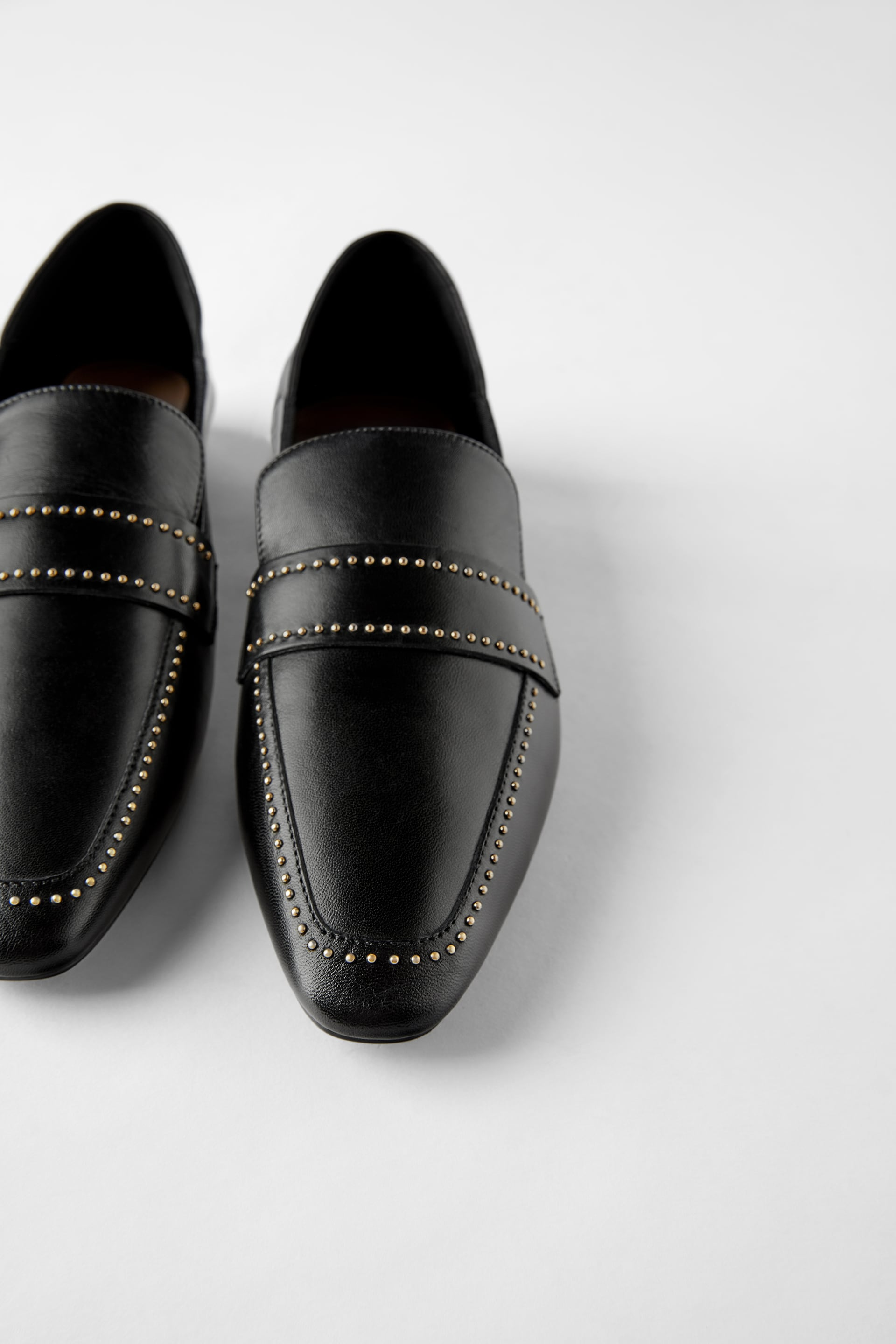 SOFT LEATHER LOAFERS WITH MICRO-STUDS