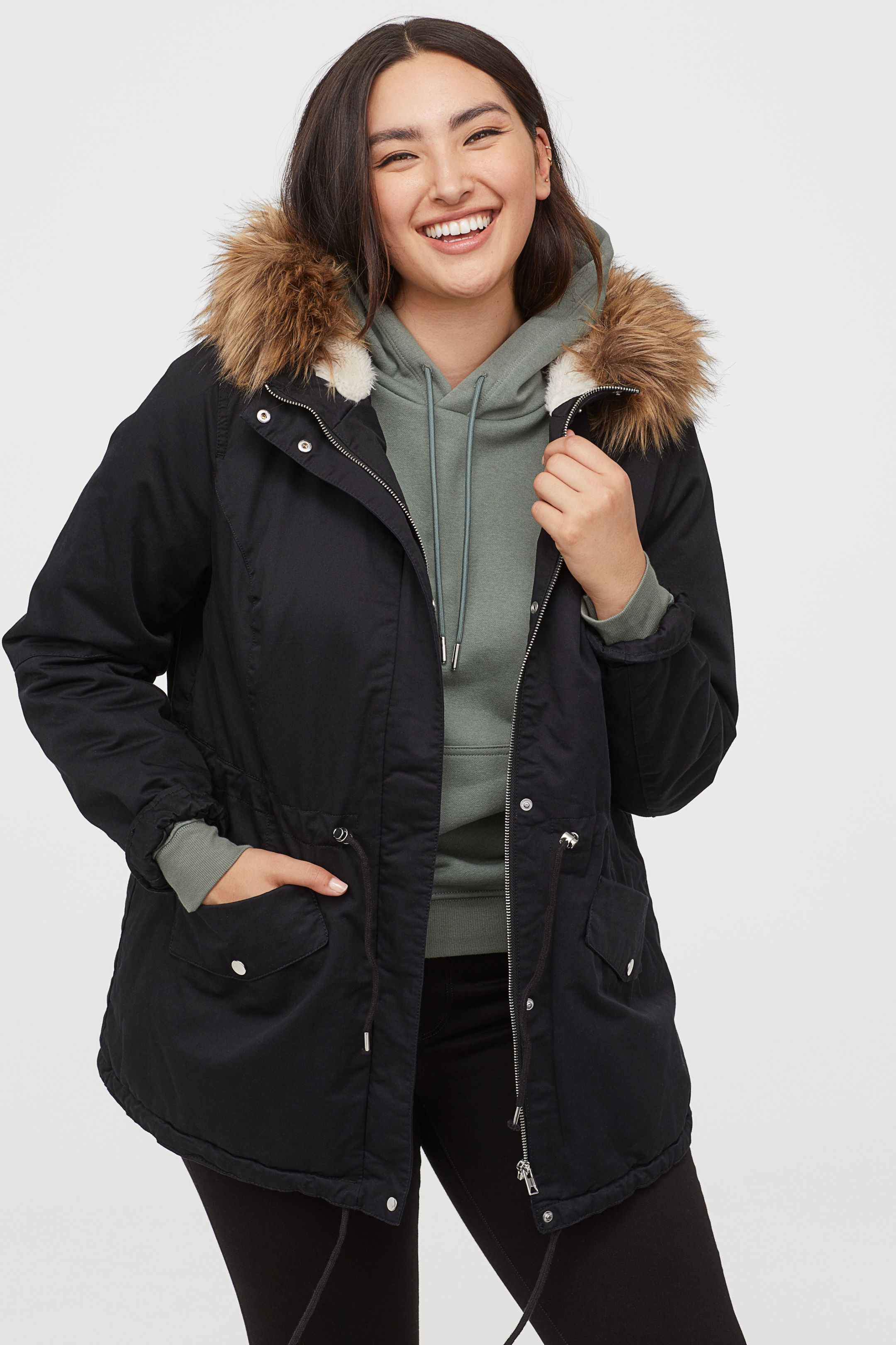 H & M + Down Lined Parka