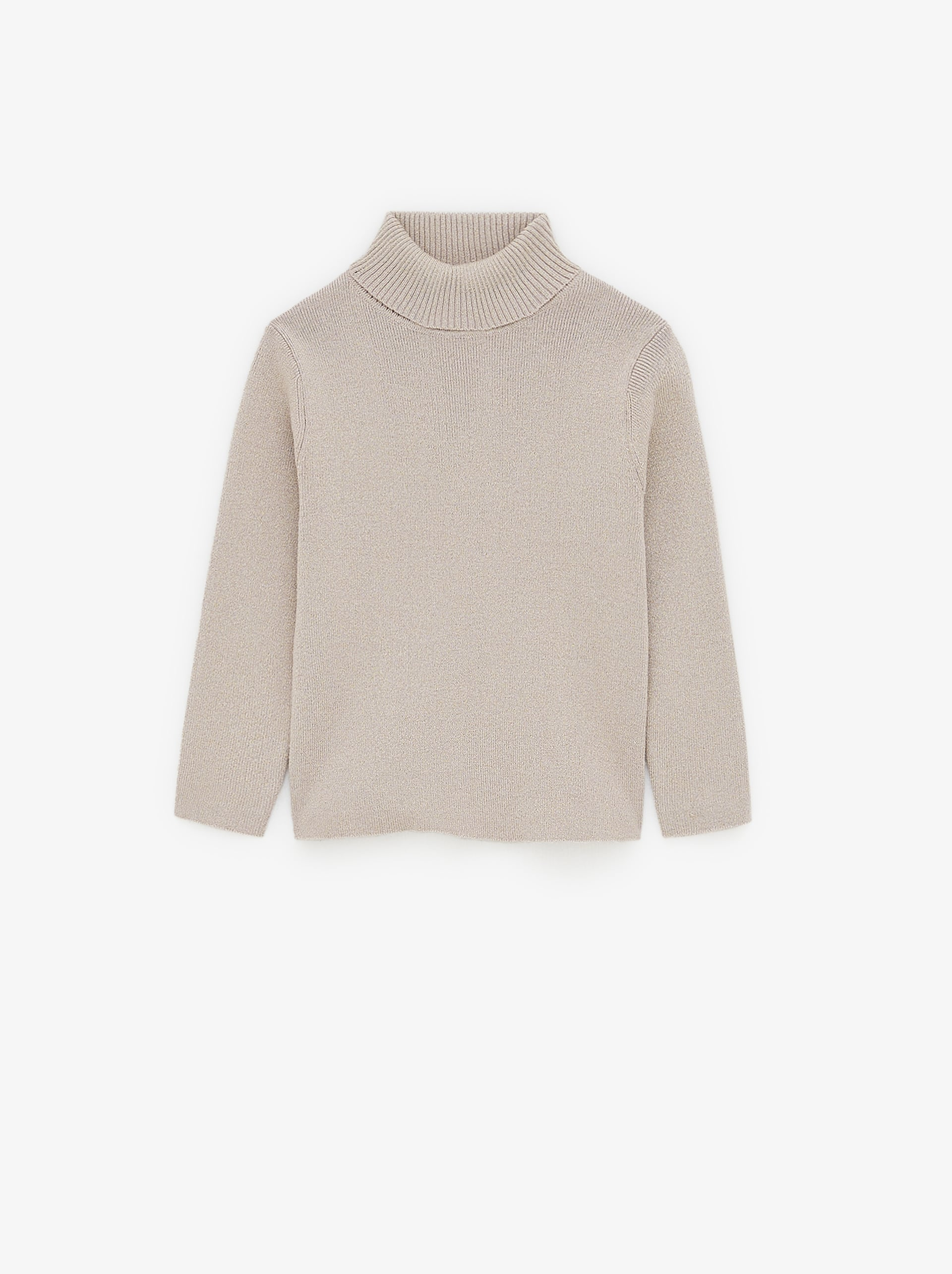 SHIMMERY TURTLENECK NECK SWEATER
