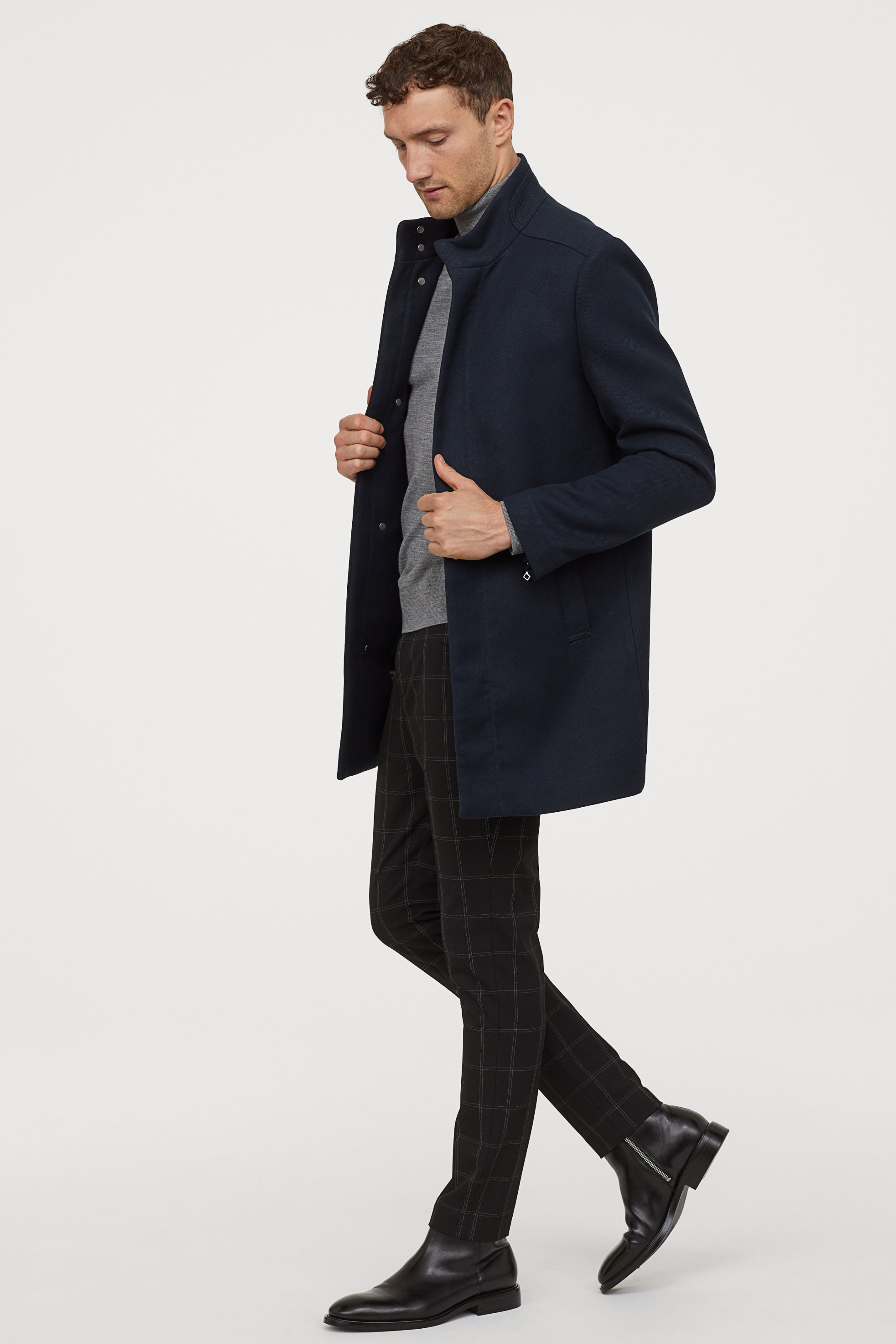 Vertical Collar Coat