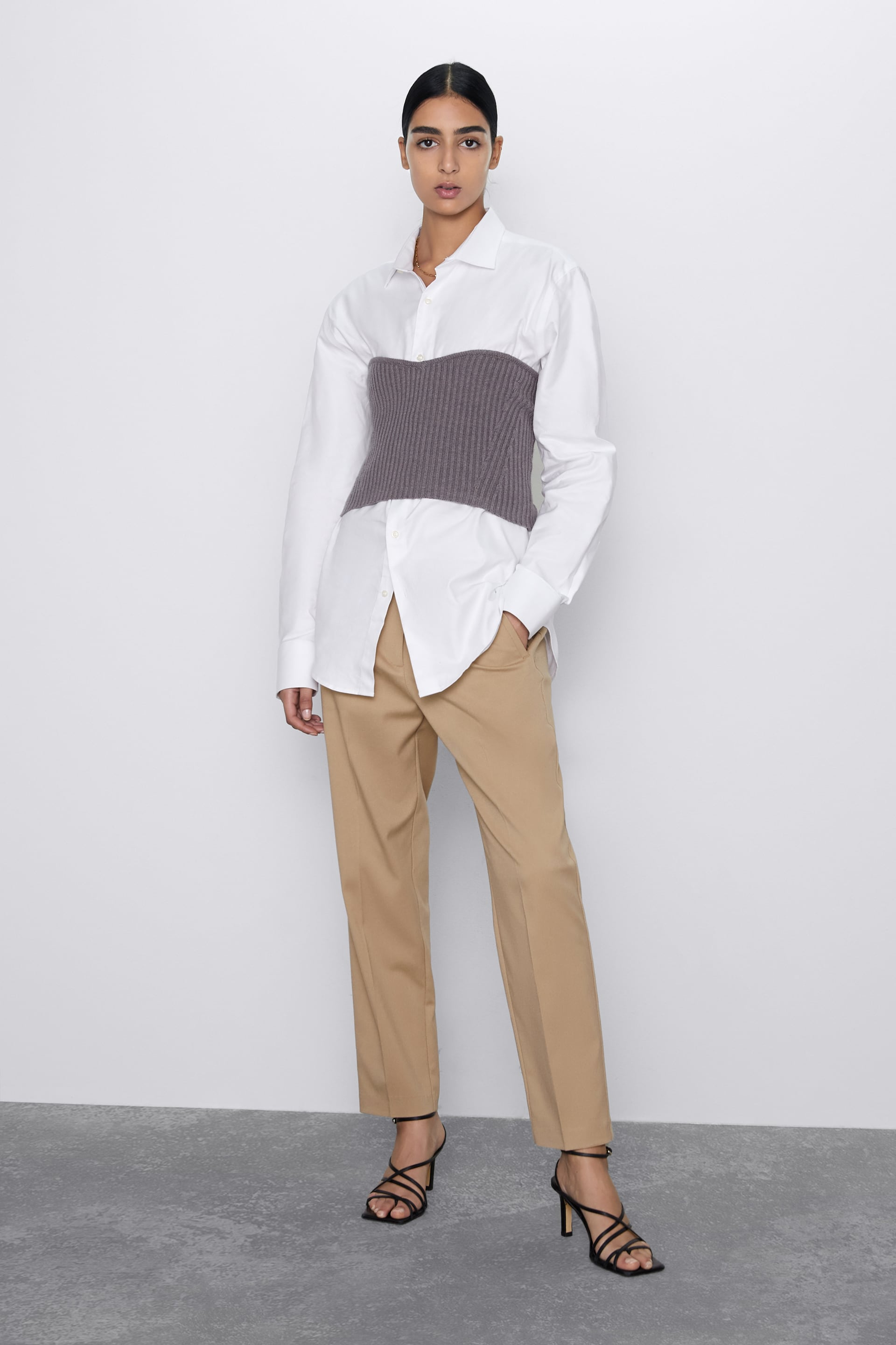 HIGH WAIST TROUSERS WITH DARTS