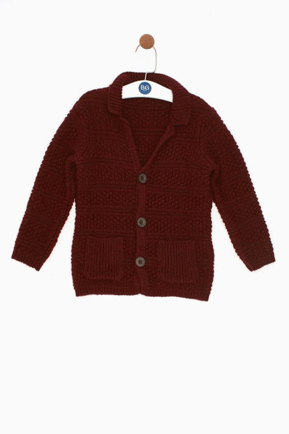 Boys Kids Burgundy Sweater 18FW0NB3721 18FW0NB3721