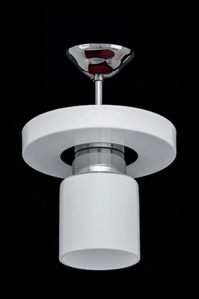 1005-1WHT Round Modern White Single Chandelier SNM325