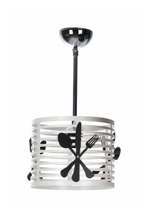 White Fork Spoon Single Chandelier 109667