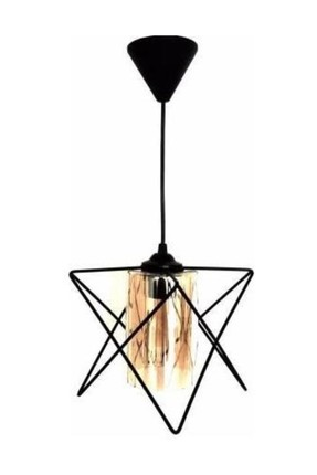 310 1PBLK Rustic Black Single Chandelier 10640