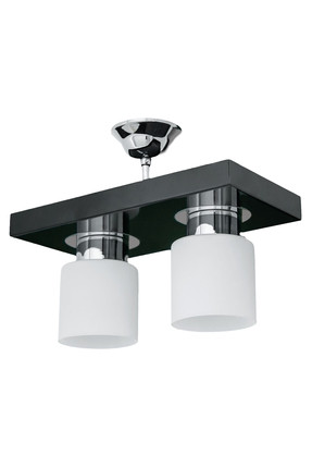 Chrome Black 2 Piece Chandelier SNM664