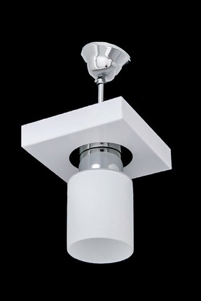 1015-1PWHT Square White Modern Single Chandelier SNM15623_697