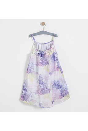Girls' Dresses with Bowknot White 15YKGELB1831