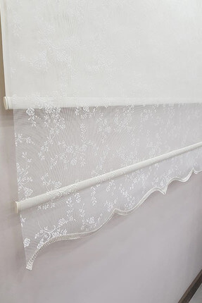 120X200 Double Mechanism Tulle Curtain and Roller Blinds MT4003 8605480997874