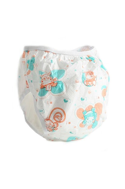 259 Exercise Pant with Cotton Pad 4 White No: 1 (0-4 Months) SEV-259-YN