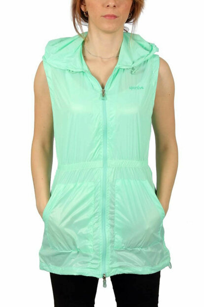 Women's Hooded Black Vest - 400159-CBG