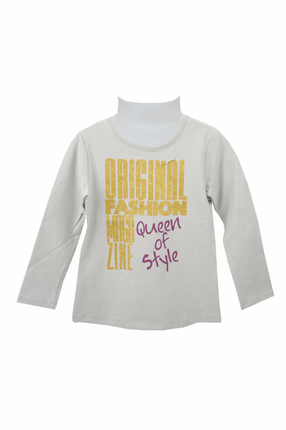 Gray Girls T-Shirt 72KL4864