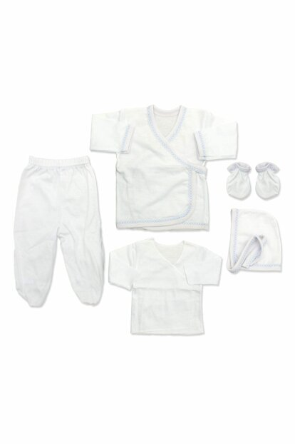Blue Edged Simple Baby 5 Li Hospital Outlet Set K2274