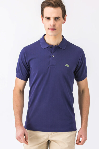 2a8355f7f Lacoste Men's Classic Fit Navy Blue Polo Neck T-Shirt L1264 - 82,500 ID