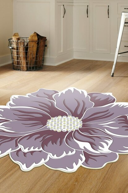 80x80 Dekoreko Figured Round Custom Cut Carpet 120 Purple AKC_Eugene-V3_4674_1