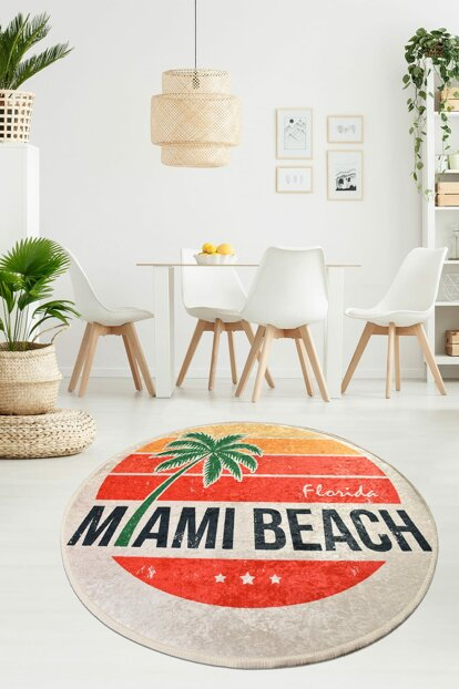 140x140 cm Miami Beach Decorative Djt Diameter 140 Cm 8682125928432
