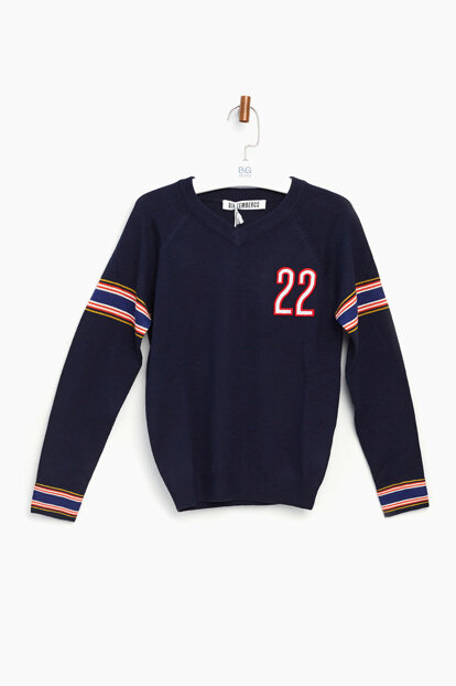 Boys' Navy Blue Sweater 17FWDJMMA71