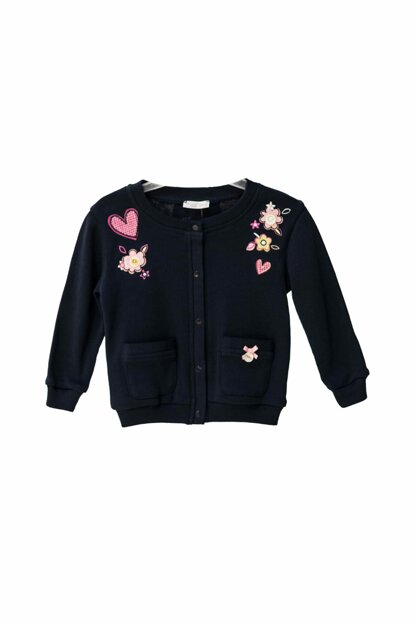 Little Girl Children's Cardigan LACIVERT 9-12 Months 82M2ALZ26